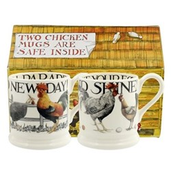 Rise & Shine Pair of mugs, 1/2 pint