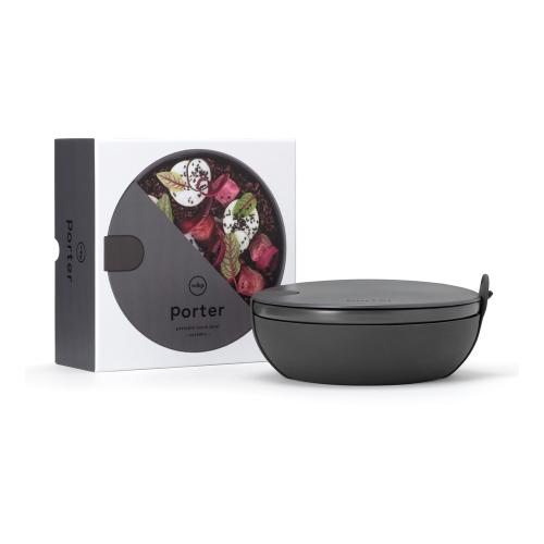 Porter Ceramic lunch bowl, Dia19cm, Charcoal