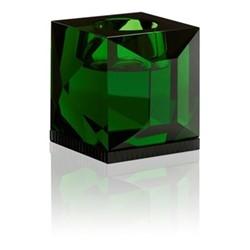 Ophelia T-light holder, L9 x H7.8 x D9cm, green/black