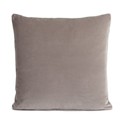 Monroe Square cushion, velvet/silver