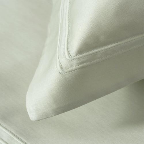 Triomphe - 300 Thread Count Cotton Sateen King pillowcase, 50 x 90cm, sauge
