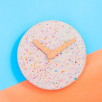 Sprinkles Wall clock, L235 x W235 x H3cm, grey