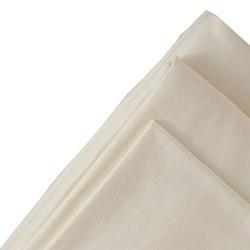 King size flat sheet, 275 x 275cm, oyster white