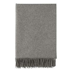 Cashmere throw, 190 x 140cm, graphite
