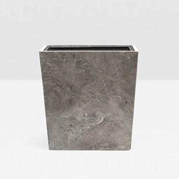 Veneto Wastebasket, H28 x W20cm, gray polished marble