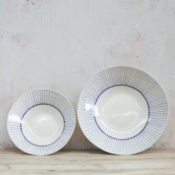 Iba Serving bowl - small, 6.5 x 26.5cm, Indigo