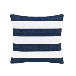 Fresh American - Catamaran Polypropylene indoor/outdoor cushion, 53 x 53cm, navy/white