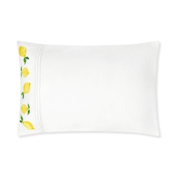 Lemons Pair of pillowcases, W50 x L70cm, white
