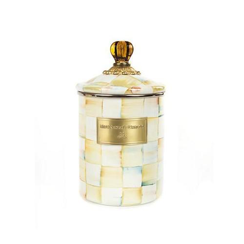 Parchment Check Medium canister, 1.4L, cream