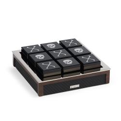 Sutton Tic tac toe set, 15 x 15cm, carbon fiber