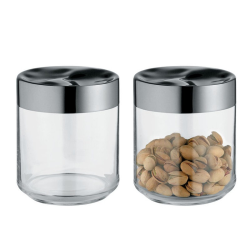 Julieta by Lluis Clotet Kitchen box, 10.5 x 12.3cm - 75cl, stainless steel and glass