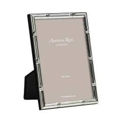 """Bamboo Photograph frame, 8 x 10"""" with 10mm border, Silver Plate"""