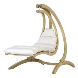 Swing lounger, 23-80 x 240cm, crème