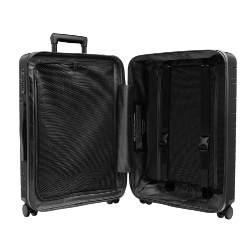 H6 Medium check-In trolley suitcase, W46 x H64 x D24cm, All Black