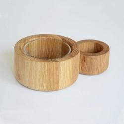 Olive pot, H6.5 x W18.5 x D12.5cm, oak
