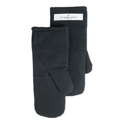 Canvas Small oven mitts, 13 x 27cm, dark grey
