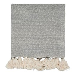Composition & Padua Knitted throw, L150 x W200cm, putty
