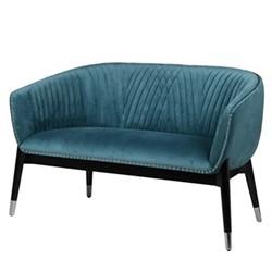 Curve Sofa, H79 x W130 x D65cm, teal
