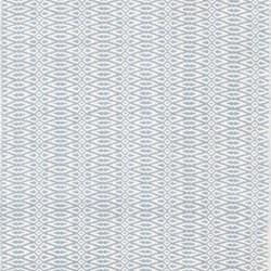 Fair Isle Woven cotton rug, W76 x L244cm, swedish blue/ivory