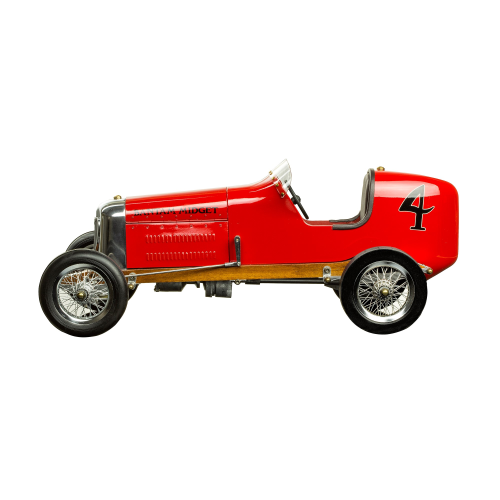 Bantam Midget Model car, H18 x W22 x L48cm, Red Polished Aluminium
