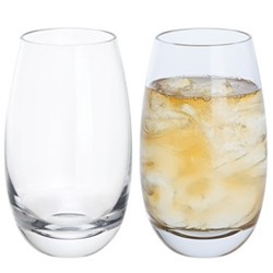 Whisky Pair of highball mixer glasses, H14cm - 44cl, clear