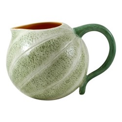 Melon Pitcher, 2 litre - 22.5 x 17 x 15cm, green/orange
