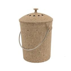 Eco compost pail, 28 x 18cm - 4.5 litre, natural fibre