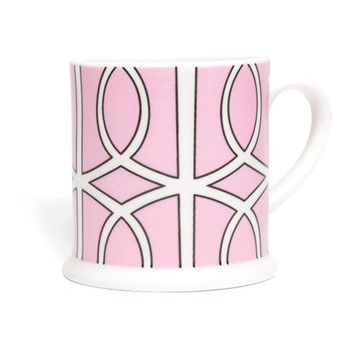 Loop Espresso cup, 6.6 x 6.1cm, pink/white