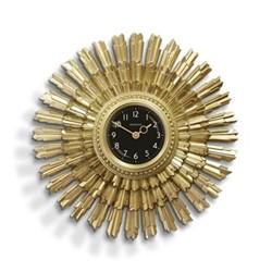 Sun Blaze Wall clock, 41 x 41 x 5.2, resin/gold