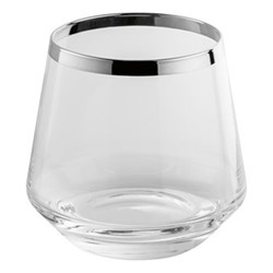 Avantgarde Whiskey glass, H9.0cm, crystal and sterling silver