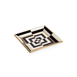 Op Art Square tray, Black/White