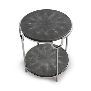 Katia Side table, H56 x D50cm, grey