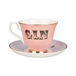 Gin Set of 6 teacups and saucers, H8 x D14cm