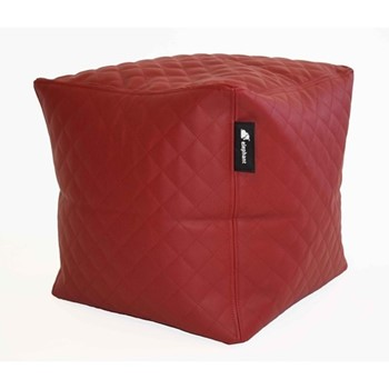 Cube - Quilted Cube, 40x45x45cm, vibrant red