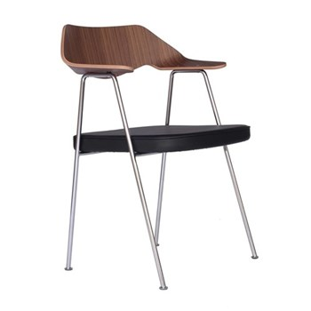 675 Walnut chair, H79.4 x W64 x D52cm, walnut