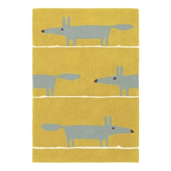 Mr Fox Rug, W140 x L200cm, mustard