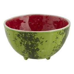Watermelon Set of 4 bowls, 13.5 x 7.5cm, red/green
