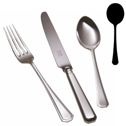 Grecian Soup spoon, silver plate