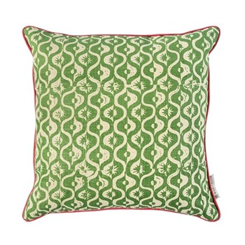 Small Medallion Cushion, 50 x 50cm, forest