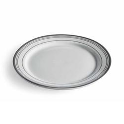 Kitchen Dine Starter plate, stripe porcelain