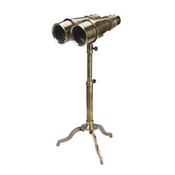 Victorian Binoculars with tripod, H41.5 x W14 x L16.5cm, bronze finished