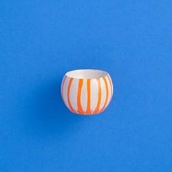 Drippy Egg cup, D5 x H5cm, grey/orange