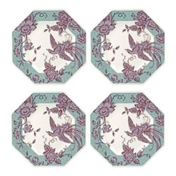 Kingsley Set of 4 plates, 24.2cm, teal