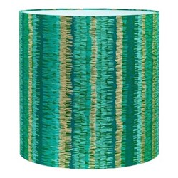 Textured Stripe Lampshade, 36 x 36cm, moss