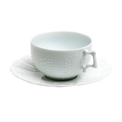 Corail Set of 6 teacups and saucers, 18cl, white