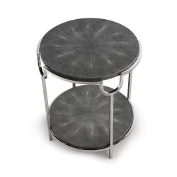 Katia Side table, H56 x D50cm, Grey