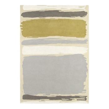 Abstract Rug, 170 x 240cm, linden/silver