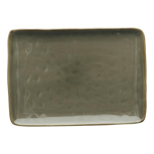 Concerto Pair of rectangular trays, L27 x W19cm, Grey