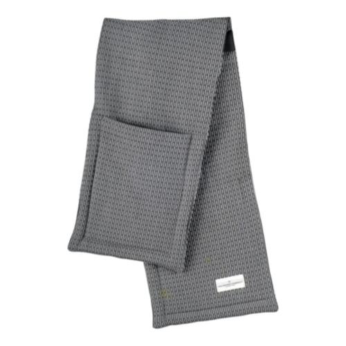 Pique Oven gloves, 22 x 100cm, Evening Grey