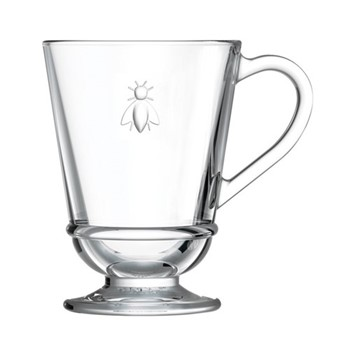 Bee Set of 6 mugs, 23cl, clear